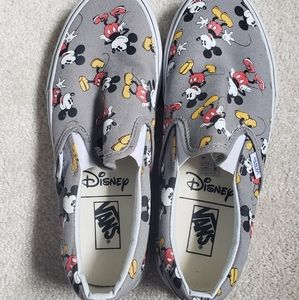 Vans Mickey Slip-ons Worn Once Size 8.5 W 7 M